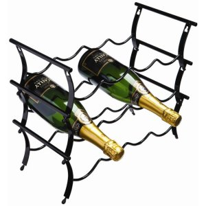 RTA 3 Tier 12 Bottle Winestak Black