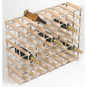 RTA 56 Bottle Natural Pine Wine Rack Kit - WINE0034