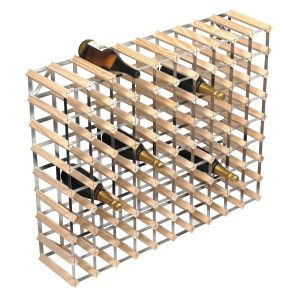 RTA 90 Bottle Natural Pine Wine Rack - WINE0290