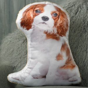 Adorable Blenheim King Charles Cavalier Spaniel Shaped Cushion ASC-1010