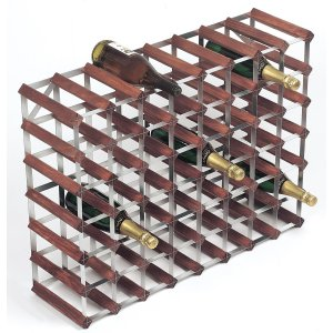 RTA 56 Bottle Dark Pine Wine Rack Kit - WINE0035