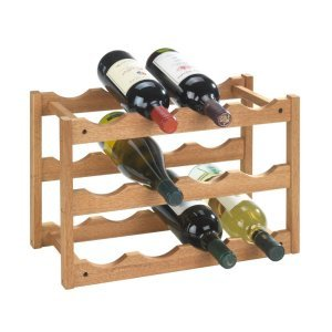 Wenko Walnut 12 Bottle Wine Rack - 18615100
